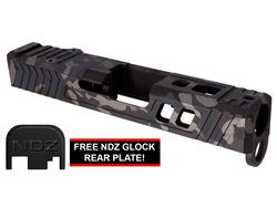 NDZ26 TROI Glock Slide Upgrade For Glock 26 Gen 1-4 With RMR Cut And Plate in Multicam Cerakote