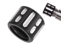 NDZ Aluminum 1/2x28 Thread Protector for 9mm .357 Barrels in Black and Silver