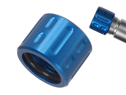 NDZ Aluminum 1/2x28 Thread Protector for 9mm .357 Barrels in Blue
