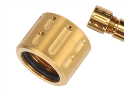 NDZ Stainless Steel 1/2x28 Thread Protector for 9mm .357 Barrels in Gold (TiN)