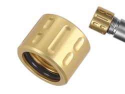 NDZ Aluminum 1/2x28 Thread Protector for 9mm .357 Barrels in Gold