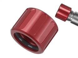 NDZ Alum Thread Prot V2 1/2x28 with O-Ring Red