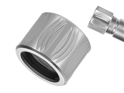 NDZ Aluminum 1/2x28 Thread Protector for 9mm .357 Barrels in Silver