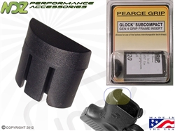 Pearce Grip PG-G4SC Grip Plug for Glock Gen 4 Sub 26, 27, 33 & 39