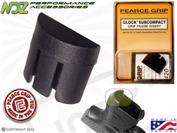 Pearce Grip PG-GFISC Grip Plug for Glock Gen 1-3 26 27 33 39 Sub Compact