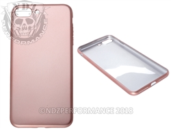 Rose Gold Silicone Phone Case IPhone 7 Plus 8 Plus