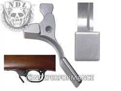 NDZ Silver Magazine Release Short for Ruger 10/22 (*LZ)