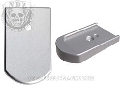 NDZ Mag Plate for Sig P226 9mm .40 .357 Silver