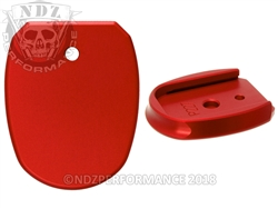 Aftermarket Sig Sauer P227 Red Magazine Base Plate For 10 & 14 Round | NDZ Performance