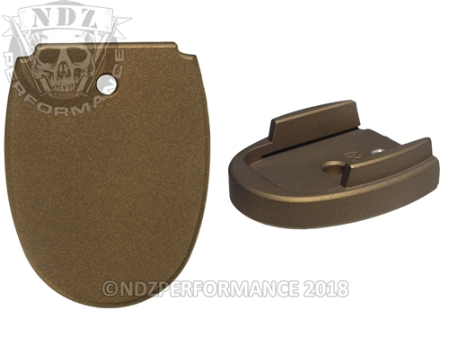 Sig Sauer P320 P250 Aftermarket Magazine Base Plate 45 Cerakote Burnt Bronze | NDZ Performance