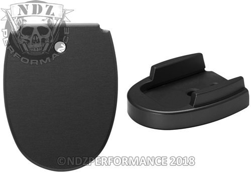 Sig Sauer P320 P250 Aftermarket Magazine Base Plate 45 Black | NDZ Performance