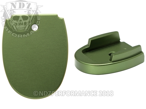 Sig Sauer P320 P250 Aftermarket Magazine Base Plate 45 Green | NDZ Performance