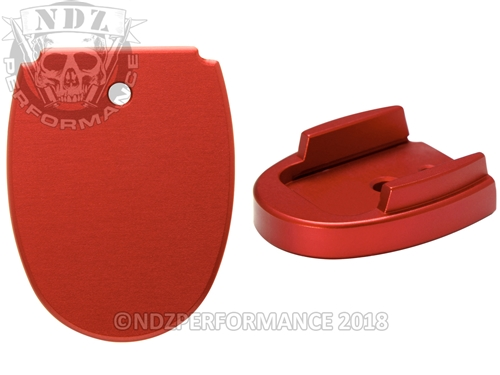 Sig Sauer P320 P250 Aftermarket Magazine Base Plate 45 Red | NDZ Performance
