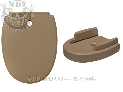 Sig Sauer P320 P250 Aftermarket Magazine Base Plate 9MM 357 40 Cerakote FDE | NDZ Performance