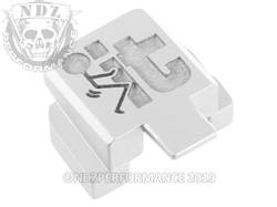 NDZ Sig P320 rear plate F It Stickman Silver