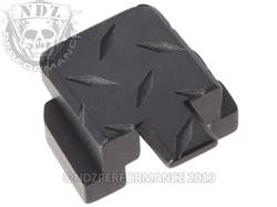 Black Sig P320 Rear Slide Plate Dia Cut Inv