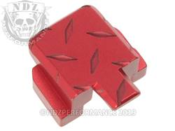 Red Sig P320 Rear Slide Plate Dia Cut Inv