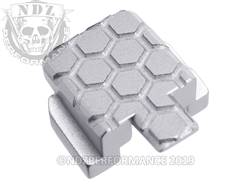 Silver Sig P320 Rear Slide Plate HC
