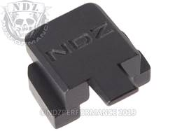 Black Sig P320 Rear Slide Plate NDZ Inv