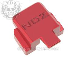 Red Sig P320 Rear Slide Plate NDZ Inv