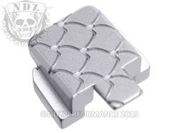 Silver Sig P320 Rear Slide Plate SC