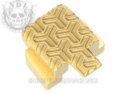 Gold Sig P320 Rear Slide Plate TW Inv