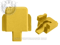 Aftermarket Gold Sig P320 Slide Cover Plate - 9MM 357 40 | NDZ Performance