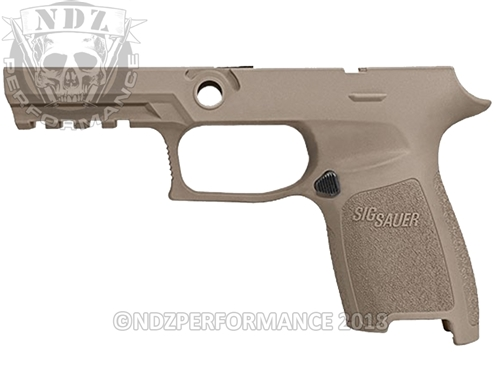 Custom Sig Sauer P320 P250 Grip Module - FDE Flat Dark Earth - Compact Small 9MM 40 357