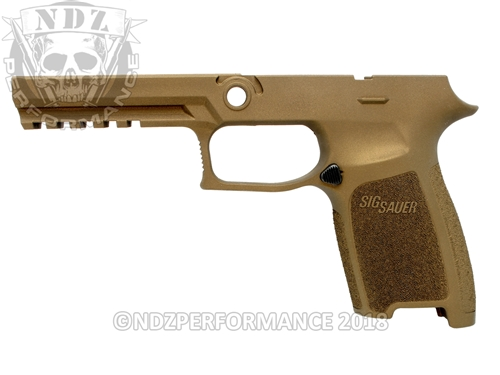 Custom Sig Sauer P320 P250 Grip Module - Burnt Bronze - Full Size Large 9MM 40 357