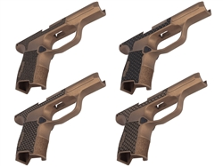 Sig P365 Grip Module with Lasered Pattern in Cerakote Burnt Bronze