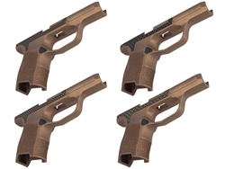 Sig P365 Grip Module with Manual Safety Compatibility, Lasered Pattern & Laserable Image in Cerakote Burnt Bronze