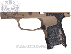 Custom Sig Sauer P365 Stippled Grip Module - Cerakote FDE - Compact 9mm