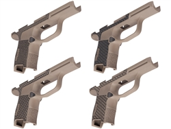 Sig P365 Grip Module with Manual Safety Compatibility and Lasered Pattern in Cerakote FDE