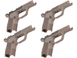 Sig P365 Grip Module with Manual Safety Compatibility, Lasered Pattern & Laserable Image in Cerakote FDE
