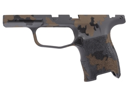 Sig Sauer P365 Grip Module Compact 9mm with Manual Safety Compatibility in Cerakote Tungsten, Burnt Bronze, Armor Black Multicam