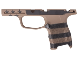 Sig Sauer P365 Grip Module Compact 9mm with Manual Safety in Cerakote  FDE & Black U.S. Flag