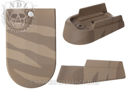 Sig P365 Mag Extension Brown Tiger Stripe