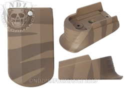 Sig P365 Mag Finger Extension Brown Tiger Stripe