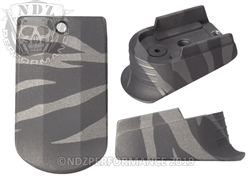 Sig P365 Mag Extension Black Tungsten Tiger Stripe