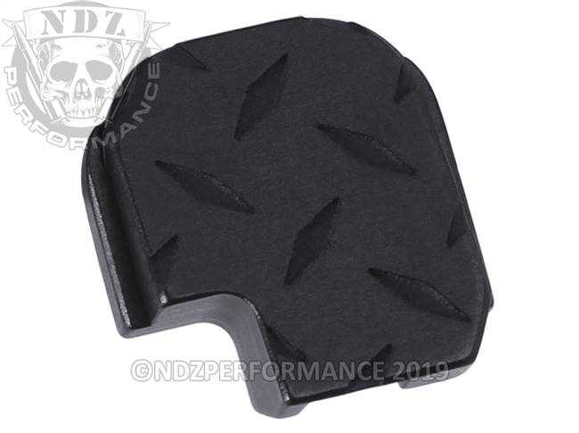 NDZ Black Sig Sauer P365 Rear Slide Cover Plate  Diamond Cut Inverse