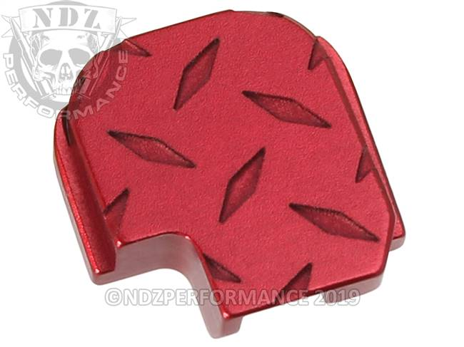 NDZ Red Sig Sauer P365 Rear Slide Cover Plate  Diamond Cut Inverse