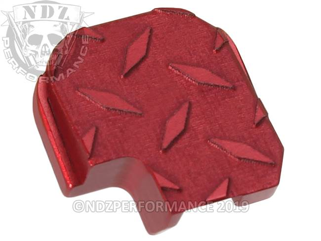 NDZ Red Sig Sauer P365 Rear Slide Cover Plate  Diamond Cut