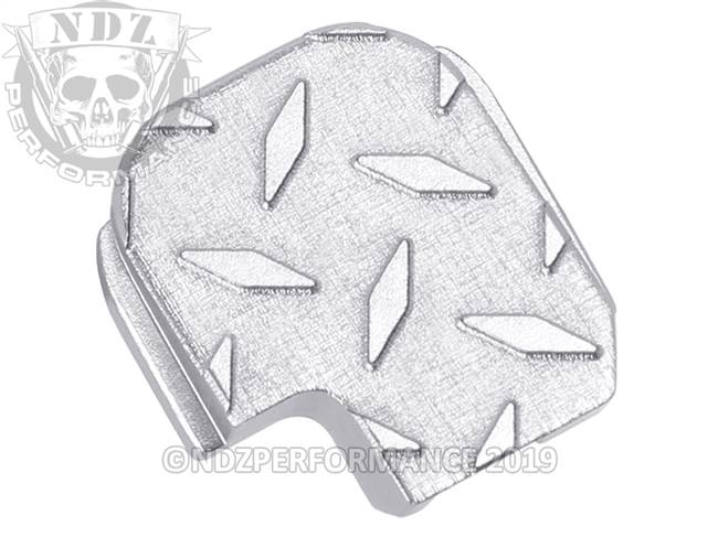 NDZ Silver Sig Sauer P365 Rear Slide Cover Plate  Diamond Cut