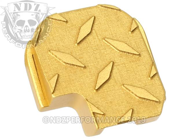 NDZ True Gold Sig Sauer P365 Rear Slide Cover Plate  Diamond Cut
