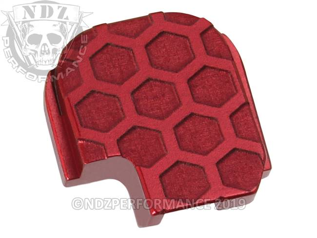 NDZ Red Sig Sauer P365 Rear Slide Cover Plate  Honey Comb Inverse