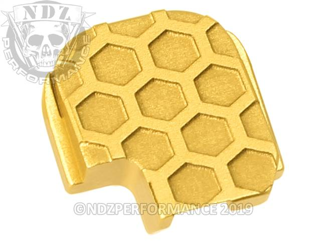 NDZ True Gold Sig Sauer P365 Rear Slide Cover Plate  Honey Comb Inverse