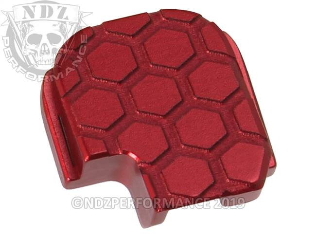 NDZ Red Sig Sauer P365 Rear Slide Cover Plate  Honey Comb