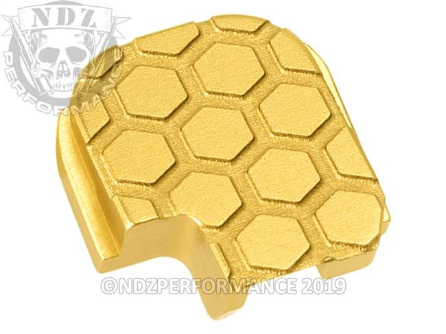 NDZ True Gold Sig Sauer P365 Rear Slide Cover Plate  Honey Comb