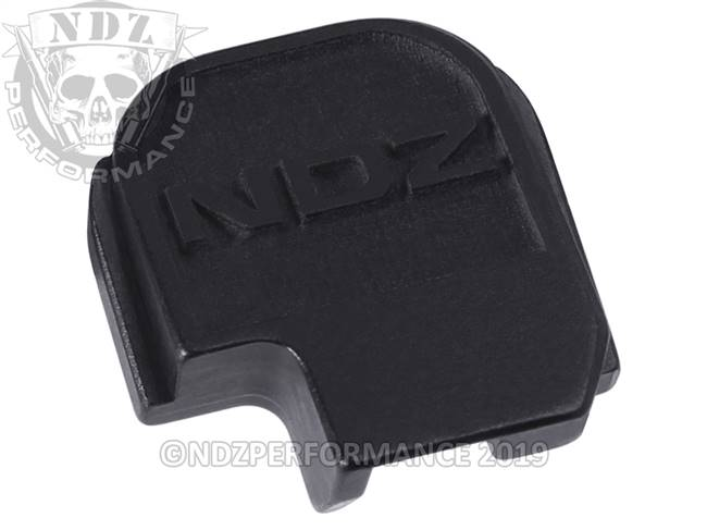 NDZ Black Sig Sauer P365 Rear Slide Cover Plate NDZ Logo