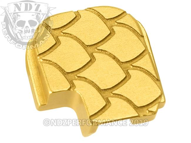 NDZ True Gold Sig Sauer P365 Rear Slide Cover Plate  Scales